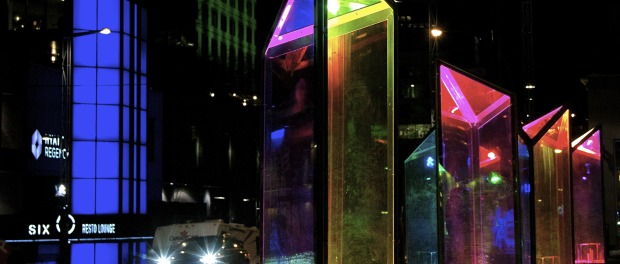 luminotherapy. Place des Arts. Photo MIchael Bakouch.