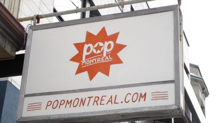 Pop Montreal sign. Mile End. Photo Rachel Levine