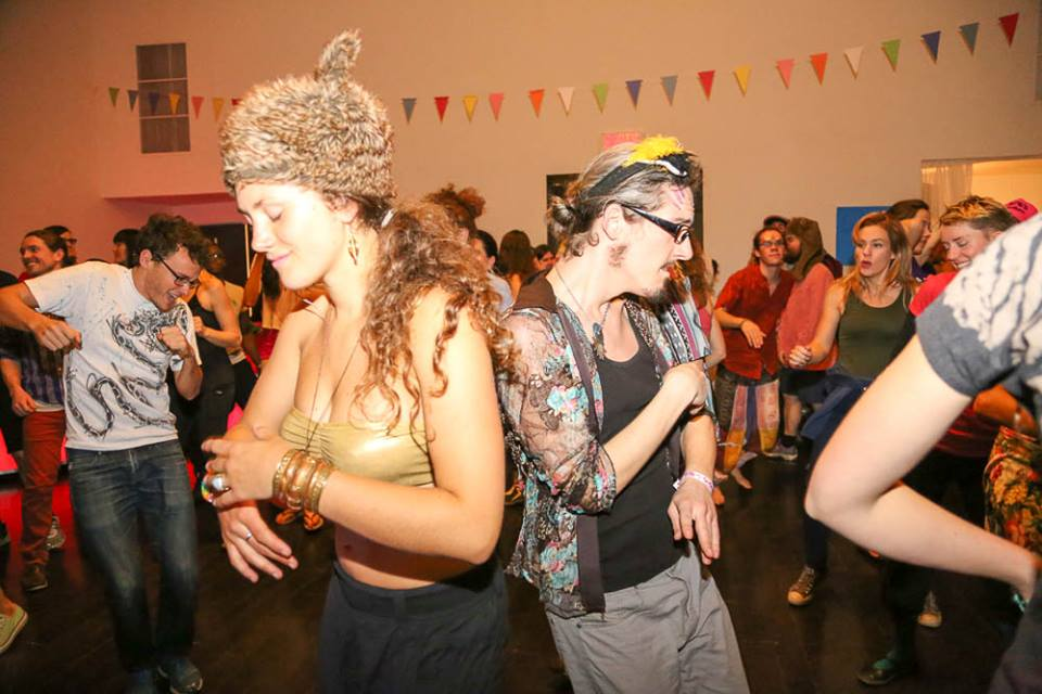Morning Gloryville. Credit: Miriam Moreno — with Jonathan PG, Jonathan Glencross, Camille Claudel, Matthieu Rheaume and Genevieve Painter.