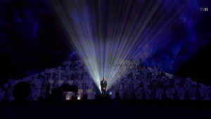 Sam Smith performing at the 2015 Brit Awards. Photo by Robyn Homeniuk.