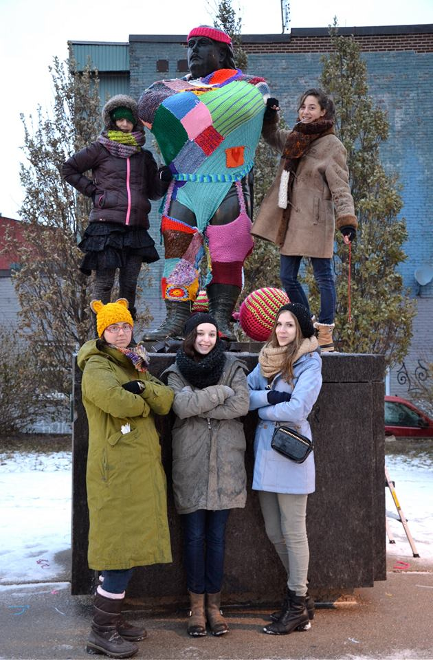 louis cyr yarn bomb. yiara magazine. Photo by Zara Domingues