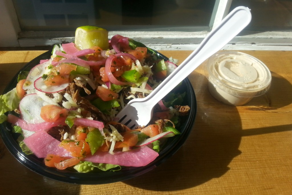 Tejano beef salad. Photo Rachel Levine