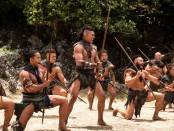 "Te Kohe Tuhaka as Wirepa in ""The Dead Lands""."