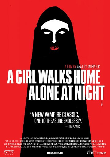 "Poster for ""A Girl Walks Home Alone At Night""."