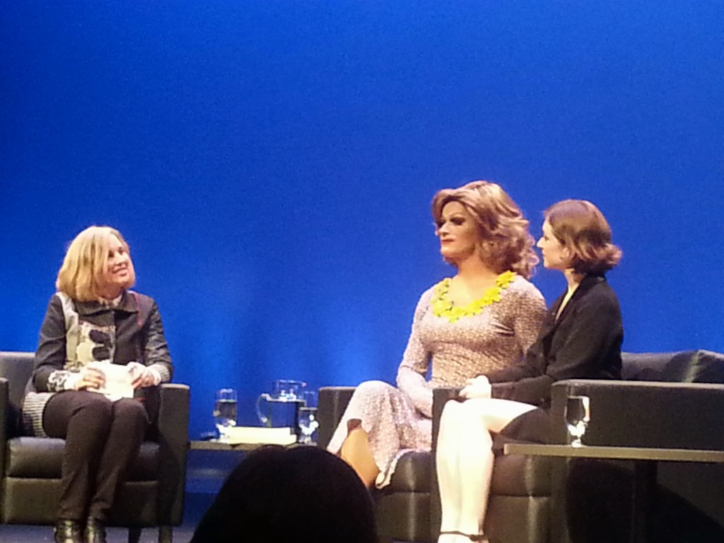 Panti Bliss and Emer O'Toole and Concordia. Thinking Out Loud. Photo Rachel Levine