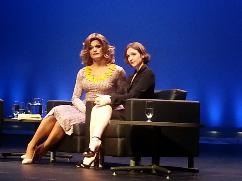 Emer O'Toole and Panti Bliss at Concordia. Thinking Out Loud. 2015. Photo Rachel Levine