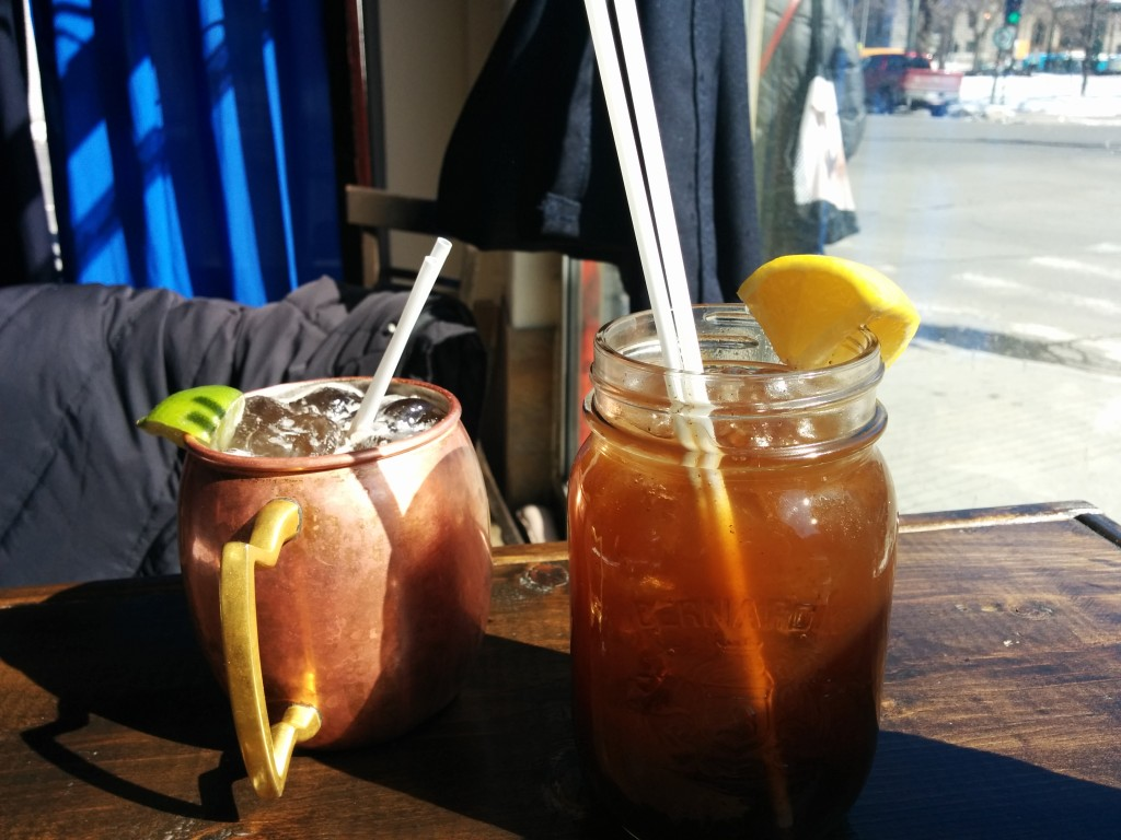 Ginger Beer with chili and blackberry soda. Dinette Triple Crown. Photo Esther Szeben.