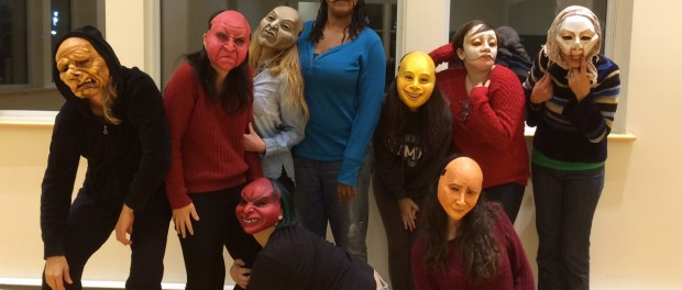 Artista Participants doing Mask Work Photo by Artista
