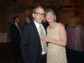 Editor in Chief of the Walrus Jonathan Kay and Shelley Ambrose, the executive director of the Walrus Foundation, from their recent gala. Photographer Tom Sandler.
