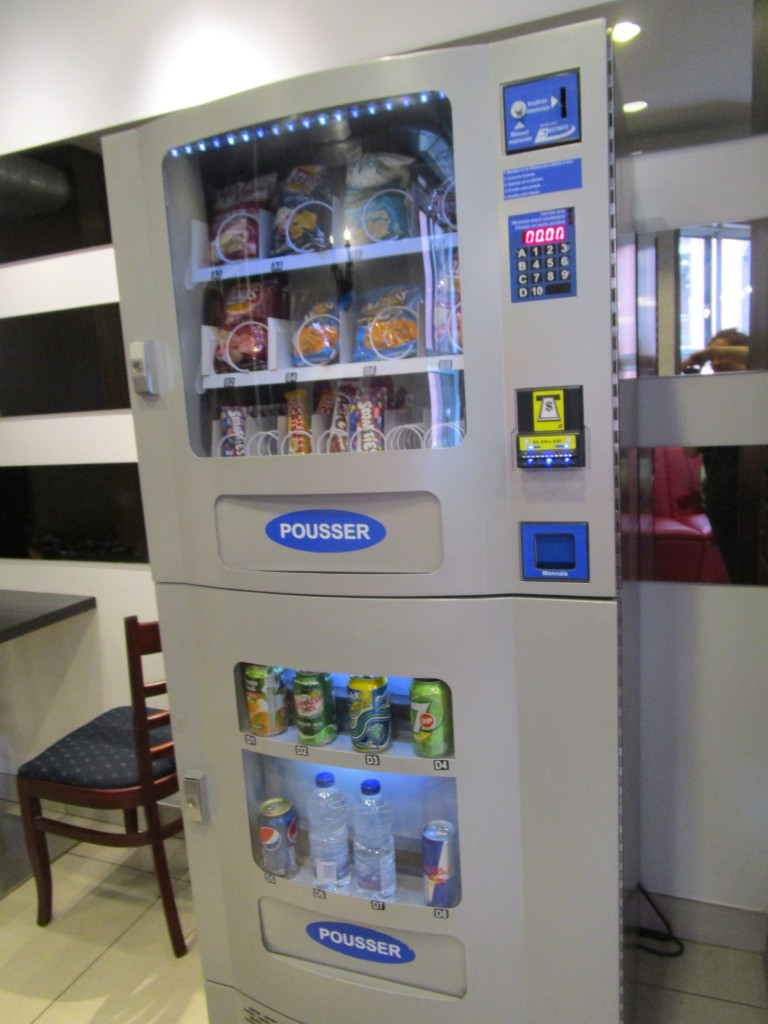 Vending Machine. M Hostel Montreal. Photo Rachel Levine