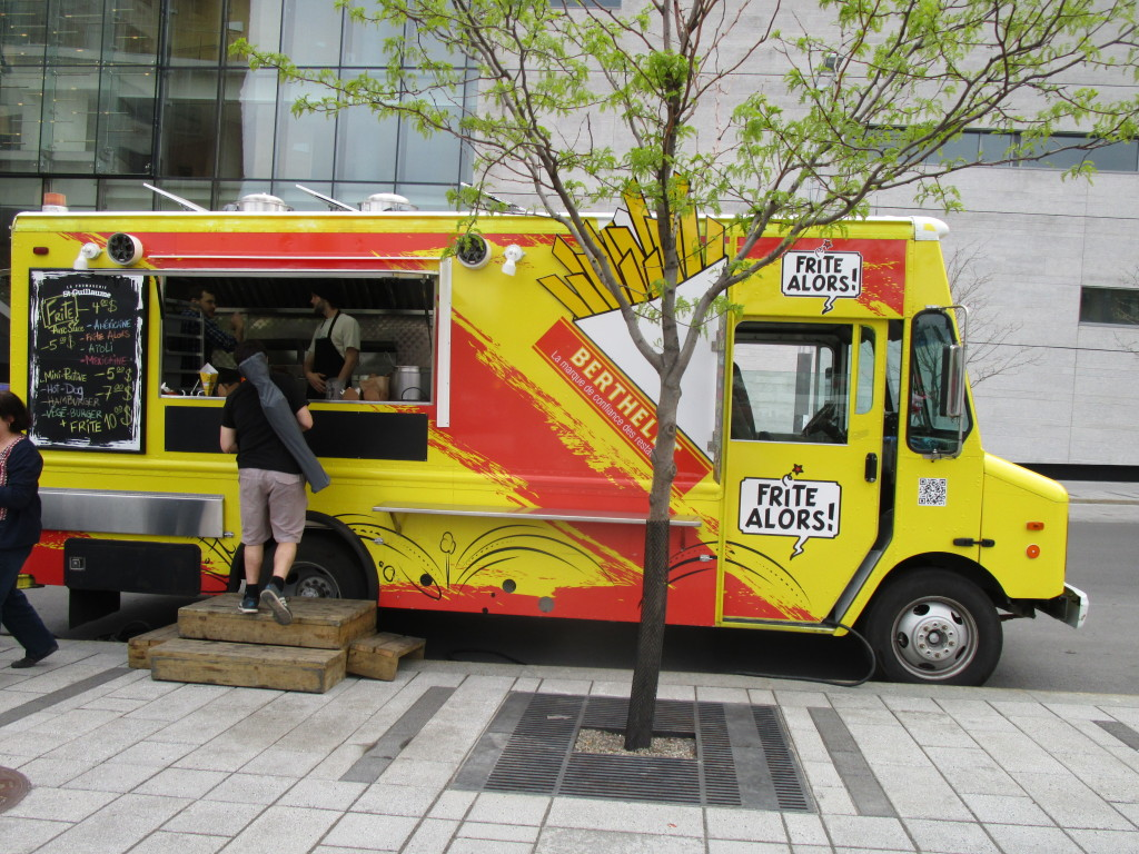 Frite Alors food truck. Montreal. Photo Rachel Levine