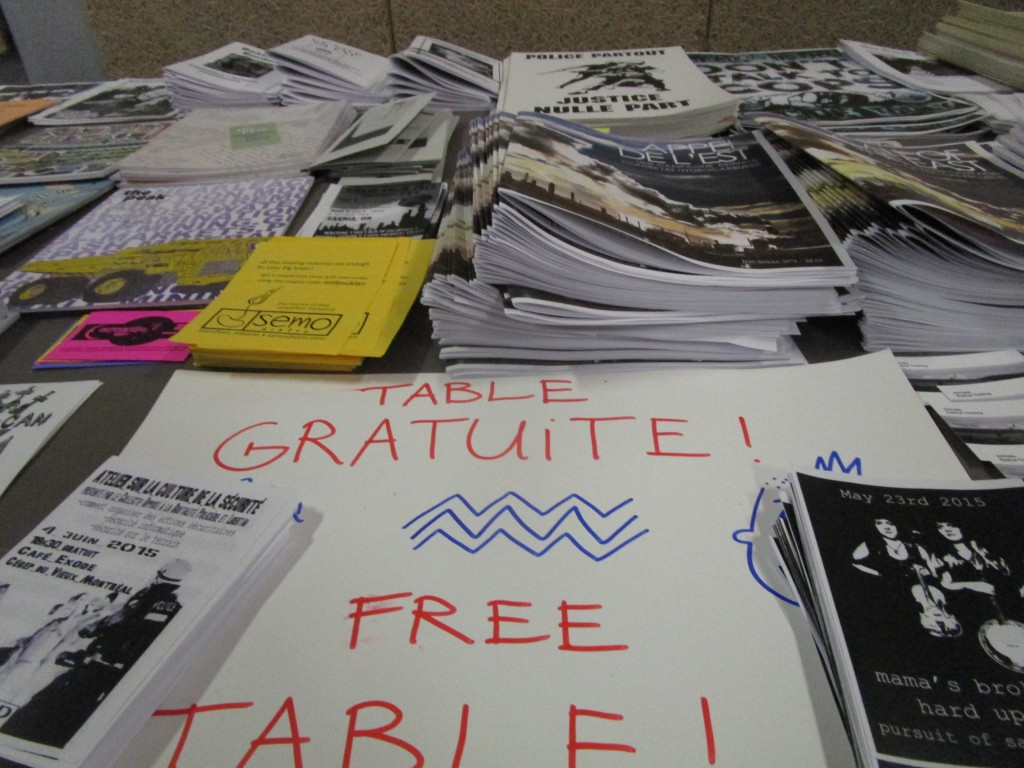 Anarchist bookfair 2015. Photo Rachel Levine