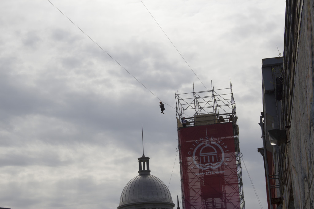 Montreal Old Port. Zip Line. Photo Derrick Soarres.