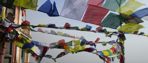 prayer flags at swayambunath. photo Rachel Levine