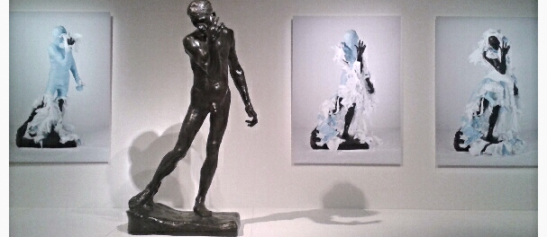 Adad Hannah's Unwrapping Rodin. Montreal Museum of Fine Arts. Photo Cassandra Marsillo.