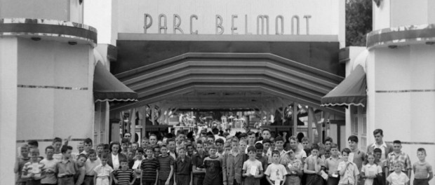 Belmont Park in 1948. Belmont Park, an amusement park now no longer in operation, was in the area which is now the Montreal borough of Ahuntsic-Cartierville. Source: Fonds Conrad Poirier/BAnQ. Accession number: P48,S1,P16831
