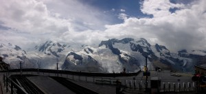 View from the top of Gornergrat
