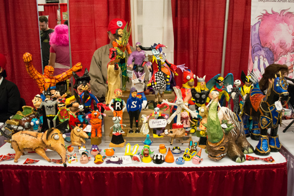 Paper Maché art at Montreal Comiccon (Photo by Jean-Frederic Vachon)