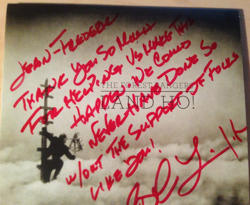 Signed CD was a perk available to PledgeMusic backers