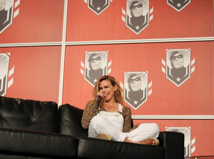 Billie Piper (Montreal Comiccon 2015). Photo Jean Frederic Vachon.