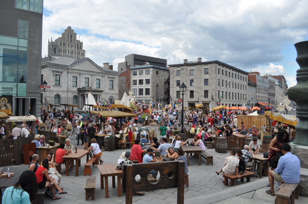 18th Century Public Market. Place d'Youville. Old Port. Photo Sean Lapalme.