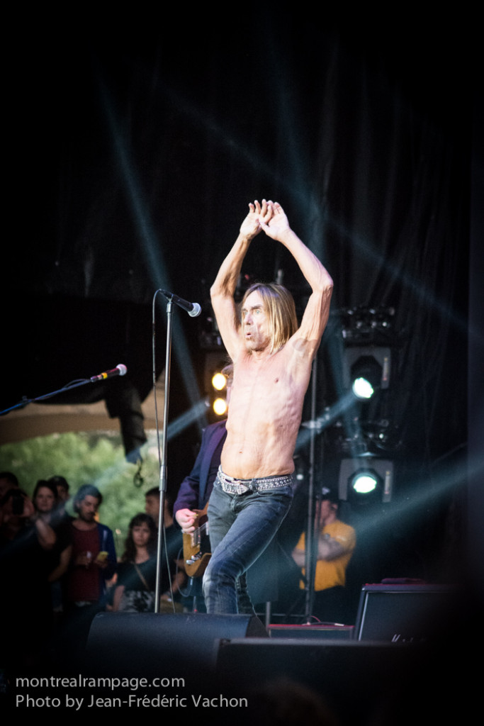 Iggy Pop. Photo Jean-Frederic Vachon. Heavy Montreal 2015.