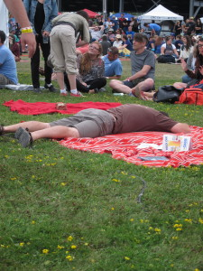 This guy, who just can't even... Wolfe Island Music Festival 2015. Photo Stephanie Weiner.