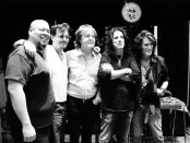 The Hollywood Vampires.From left: Abe Laboriel, Jr., Johnny Depp, Paul McCartney, Alice Cooper and Joe Perry. Kyler Clark/Courtesy of Universal Music.