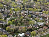 Aerial view of the town of Mount Royal. Photo credit: Town of Mount Royal/The Montreal Gazette
