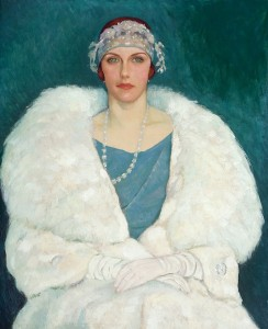 "Randolph S. Hewton (1888-1960), ""Mlle Mary Macintosh, "" 1924 ou avant. Photo David Barbour."