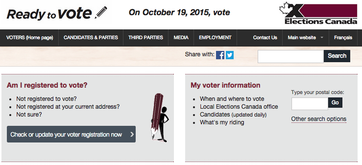 Elections Canada Screenshot.