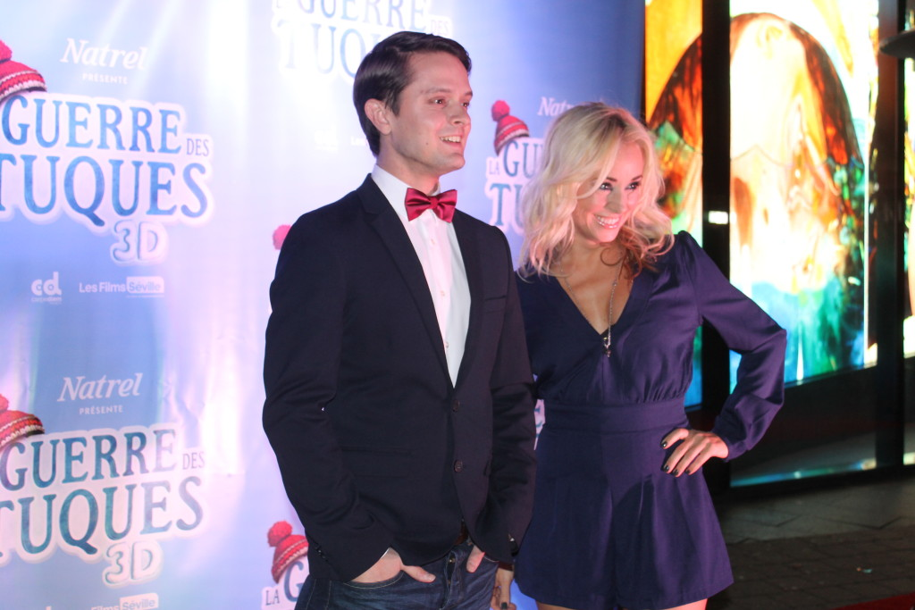 Mariloup Wolfe and Nicholas Savard L'Herbier at the Montreal premiere.