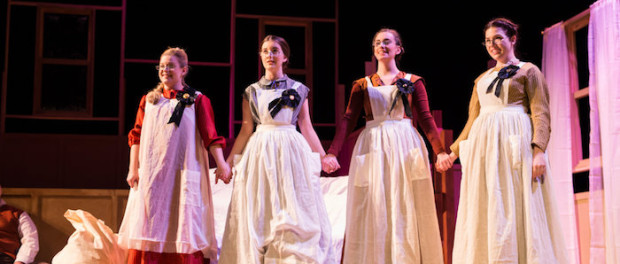 Little Women Rehearsal. McGill. Photo Brent Calis Photography.