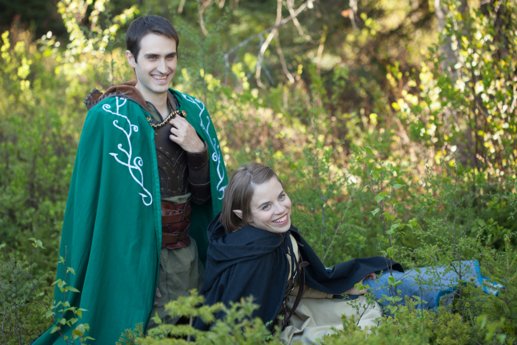 Scott Humphrey as Will, Charlotte Rogers as Brittany. LARPs season 2. Photo Julian Stamboulieh.