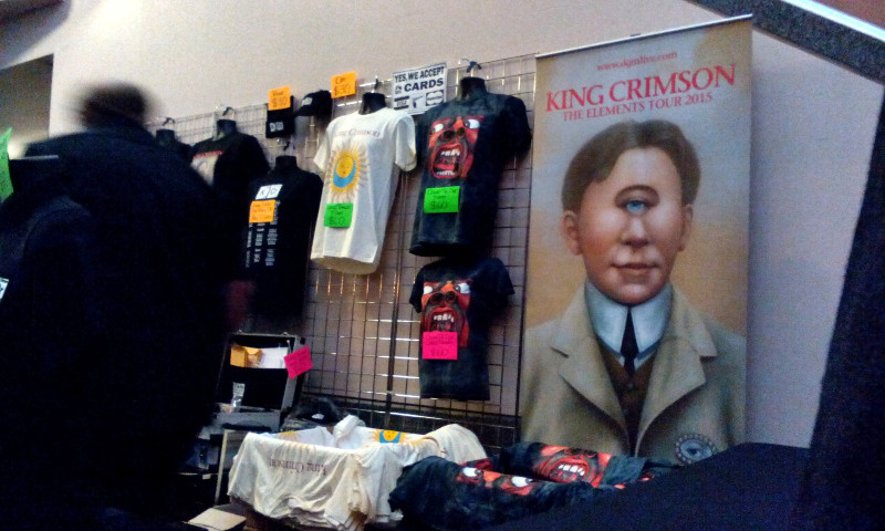 A merch stand was engrossed both before and after the show. King Crimson. Photo Ville Kiviniemi