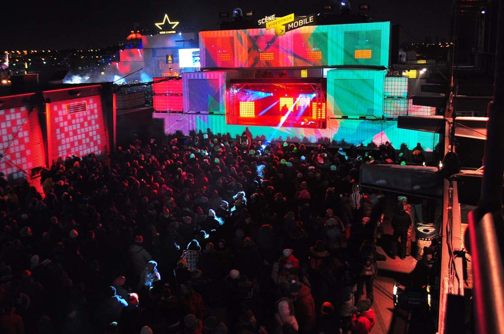 Igloofest January 23. 2016. Old Port. Montreal.