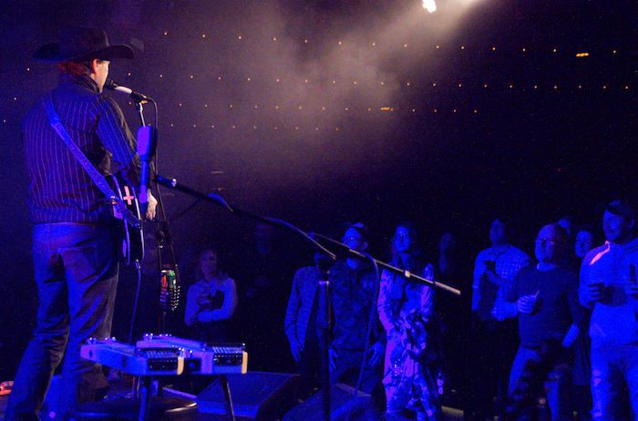 Corb Lund plays the Fairmount Theatre February 17 2016. Photo Marlene Wilson.