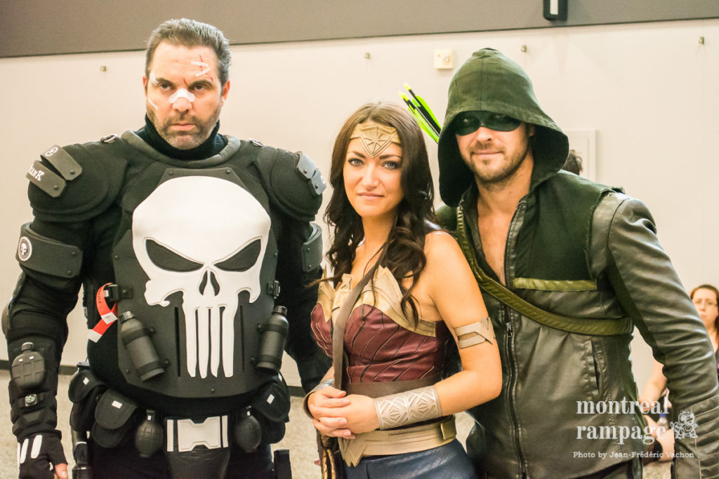 """All comic geeks just went """"Hey, Punisher's Marvel, they other two DC!"""" (photo by Jean-Frédéric Vachon)"""