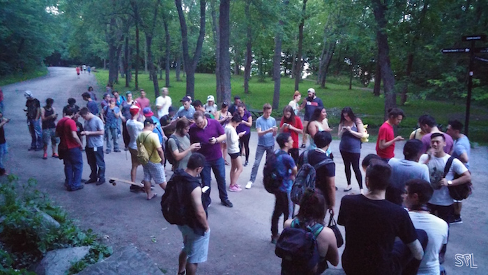 On Mont Royal. Pokémon Go Meetup. Photo Sarah Luger.