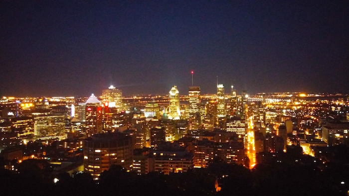 The View of Montreal. Mt. Royal. Photo Sarah Luger.