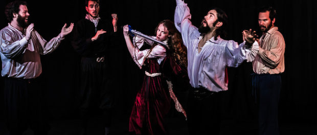 Conor-Bradbury-Julian-Frid-Kaitlin-Morrow-Seann-Murray-Danny-Pagett-SWORDPLAY-photo by John Gundy