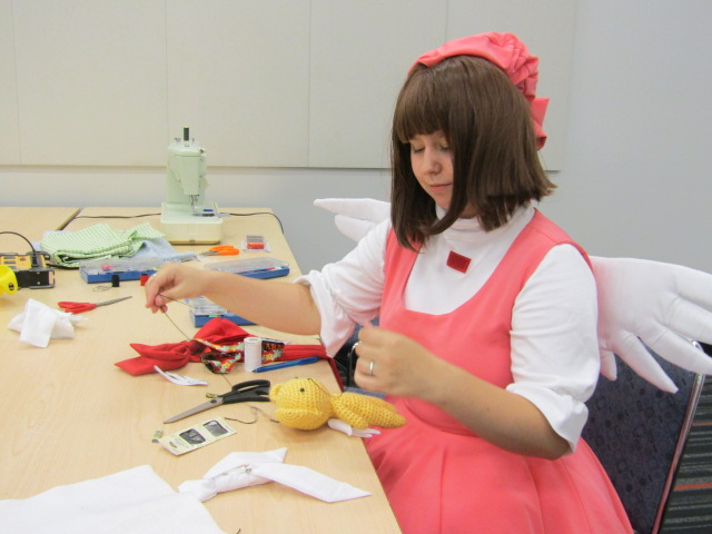 Cosplay Repair. Otakuthon. Photo Rachel Levine