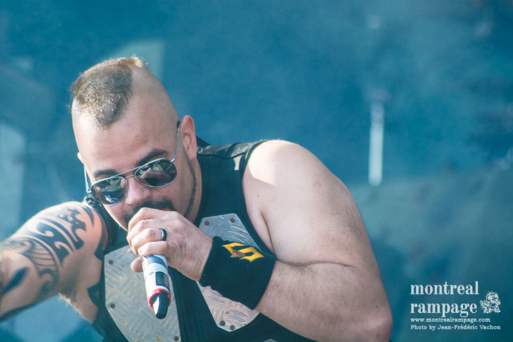Joakim Brodén of Sabaton at Heavy Montreal (Photo by Jean-Frederic Vachon)