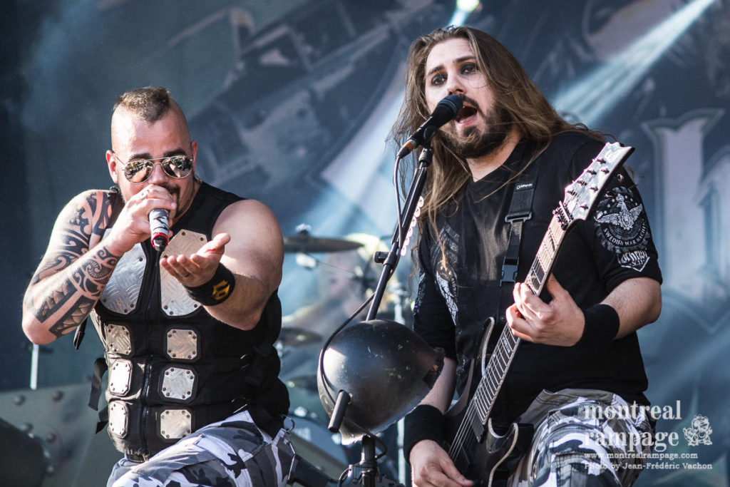 Sabaton rocking Heavy Montreal 2016 (Photo by Jean-Frederic Vachon)