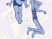 """Detail from the cover of """"This One Summer""""."""