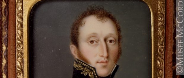 A portrait of Aaron Ezekiel Hart by Dominic Boudet, c. 1831. Photo credit: The McCord Museum, catalogue number: M18640