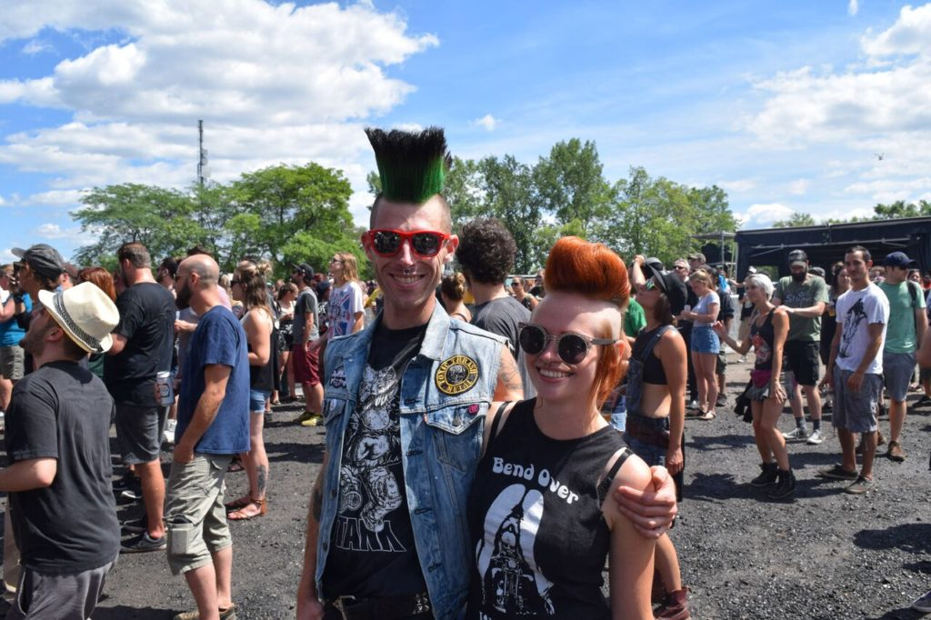 Punk Couple. 77 Montreal 2017. Photo by Chris Aitkens.