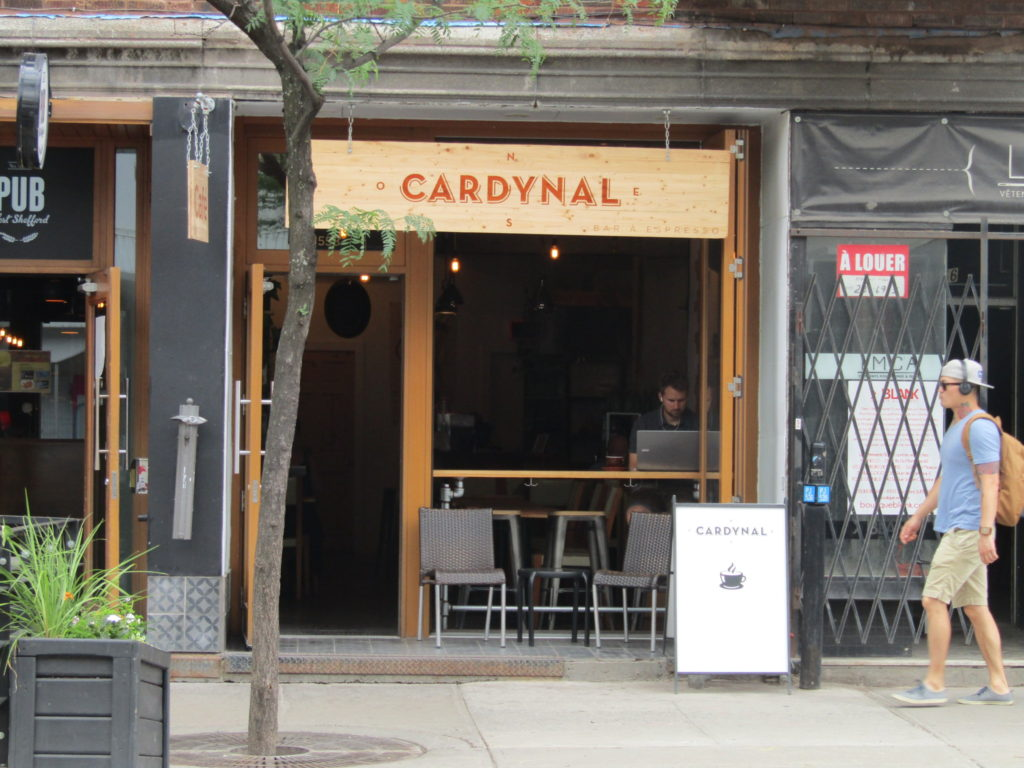 Cardynal Cafe. Rue Mt. Royal. Photo Rachel LEvine