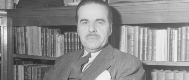 Paul Gouin, c. 1945, photographed by Conrad Poirier. Photograph courtesy of the Bibliothèque et Archives nationales du Québec/P48,S1,P12381