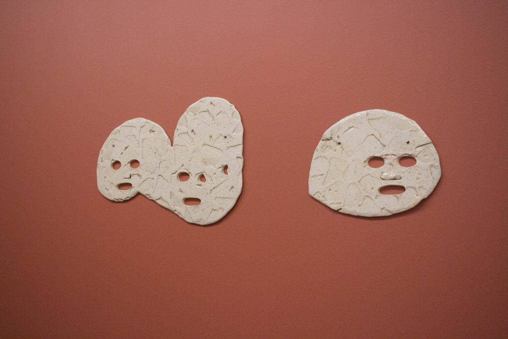 Masks by Dominique Sirois. Photo Ocean DeRouchie.